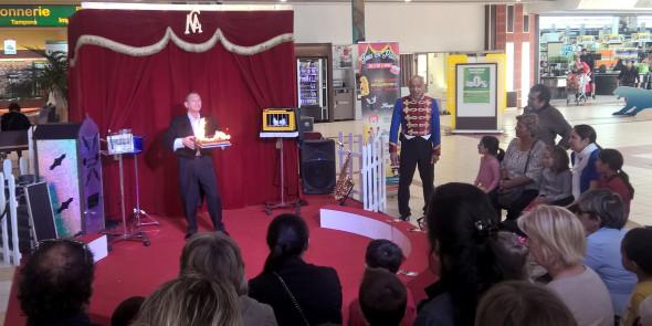 Animation et décors en galerie commerciale