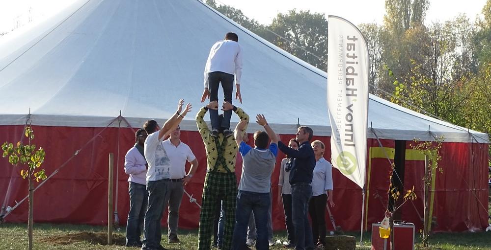 cirque event sensibilisation securite travail atelier cirque entreprise original cohesion pratique